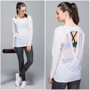 Lululemon if you're lucky long sleeve shirt